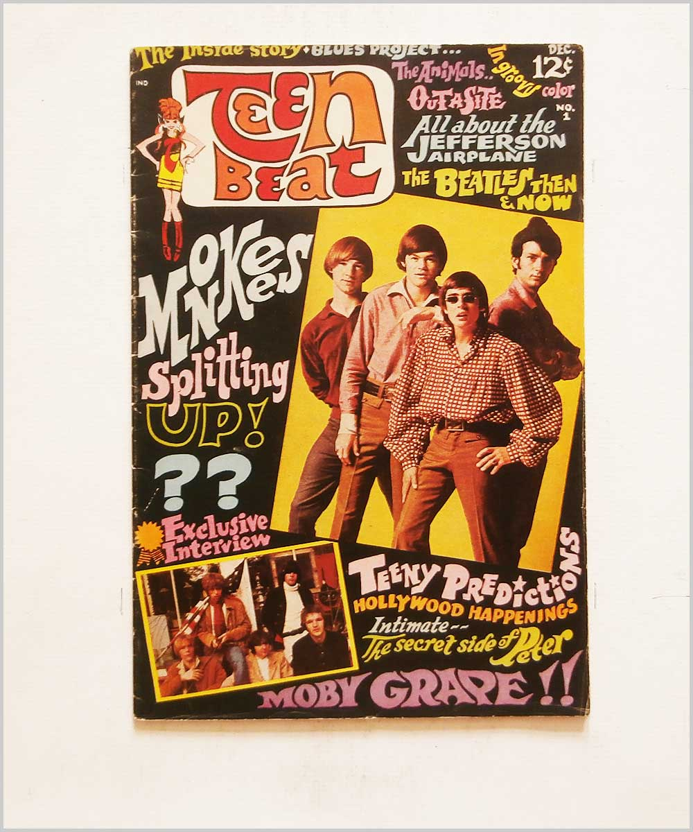 Teen Beat No.1 Nov-Dec 1967 - The Monkees, The Animals, Blues Project, Jefferson Airplane, The Beatles, Moby Grape (P6050324)