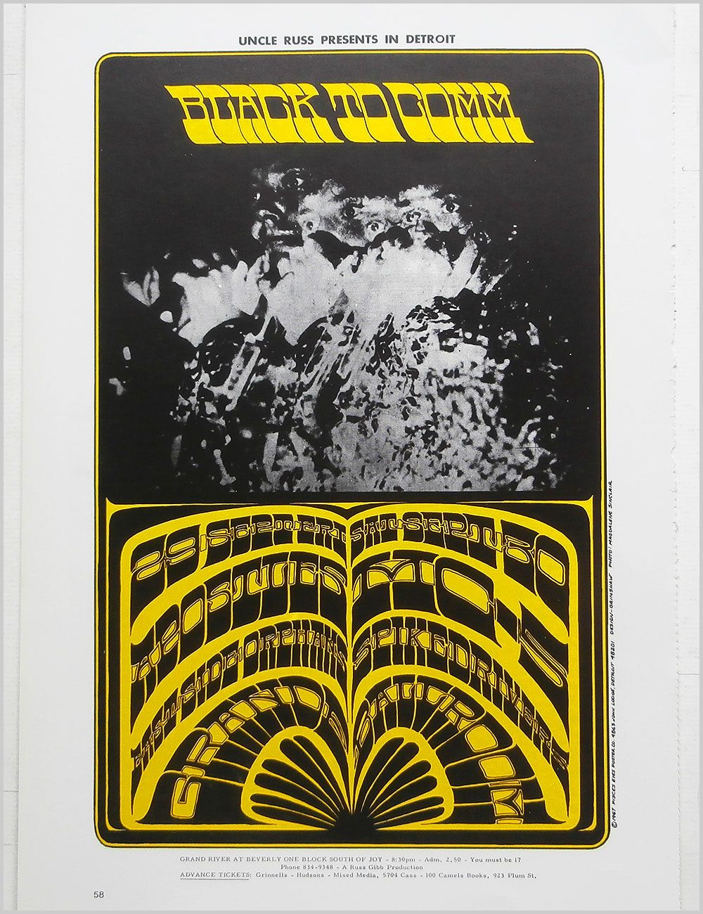 Family and MC5 - Rock Poster: Family: Freak Show b/w MC5: Black To Comm, at The Grande Ballroom (PB100294)