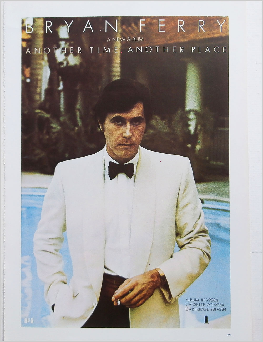 Bryan Ferry and Important - Rock Poster: Bryan Ferry: Another Time, Another Place b/w Important (PB100313)