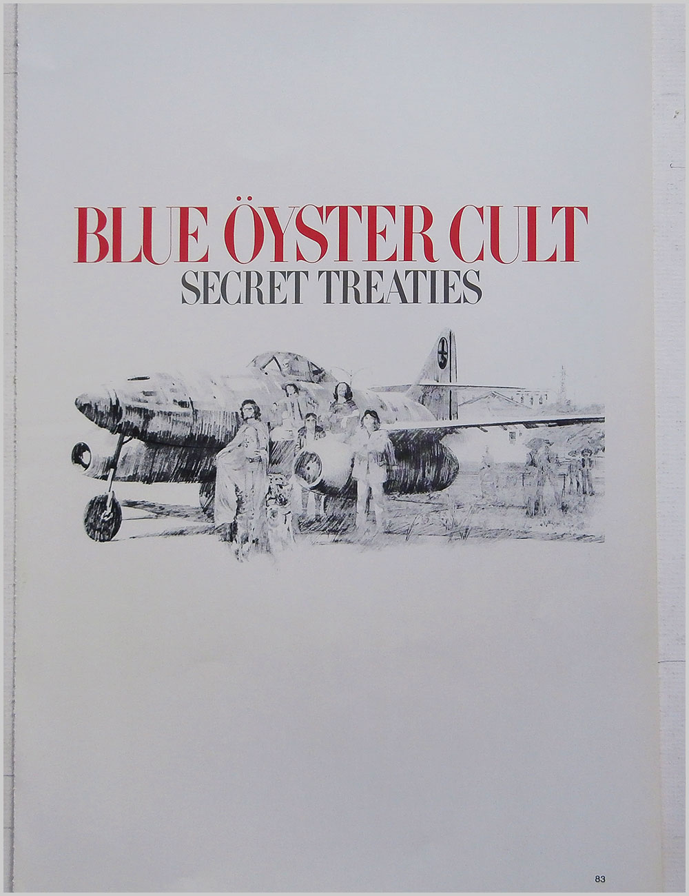 Blue Oyster Cult and Trapeze - Rock Poster: Blue Oyster Cult: Secret Treaties b/w Trapeze: Hot Wire (PB100317)