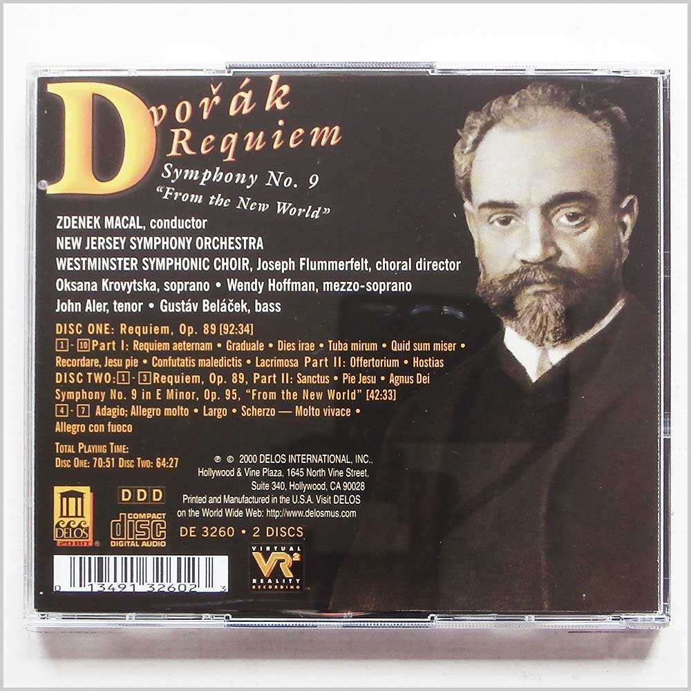 Zdenek Macal - Dvorák Requiem and Symphony No.9 by New Jersey Symphony Orchestra conducted (13491326023)