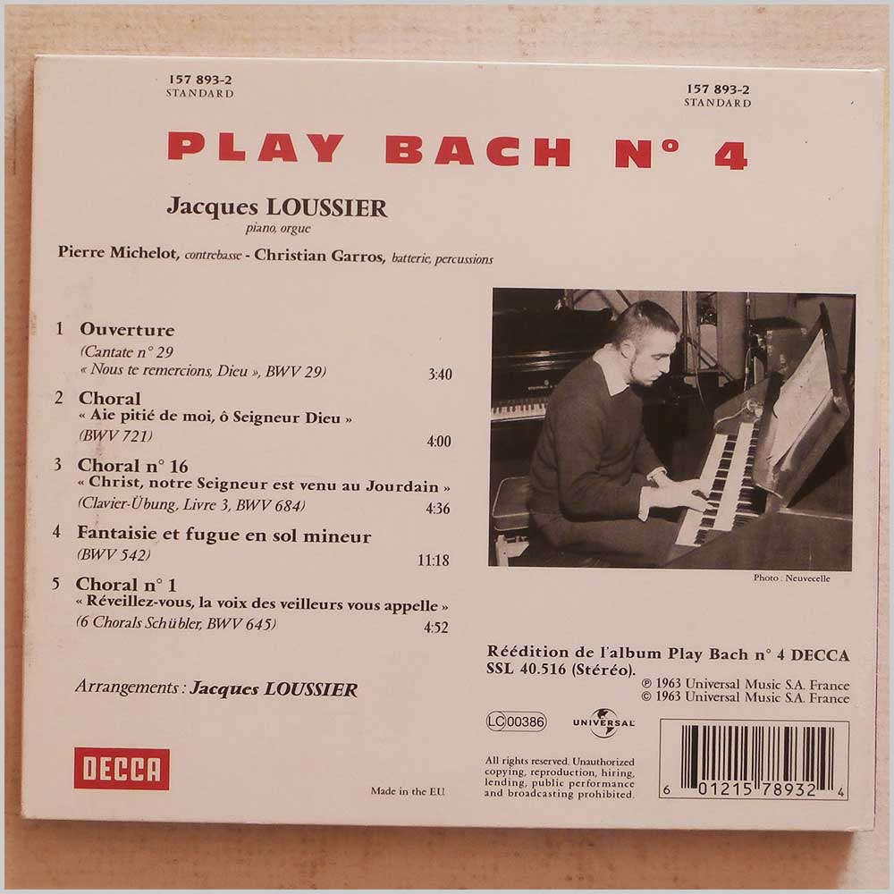 Jacques Loussier - Play Bach No.4 (157 893-2)