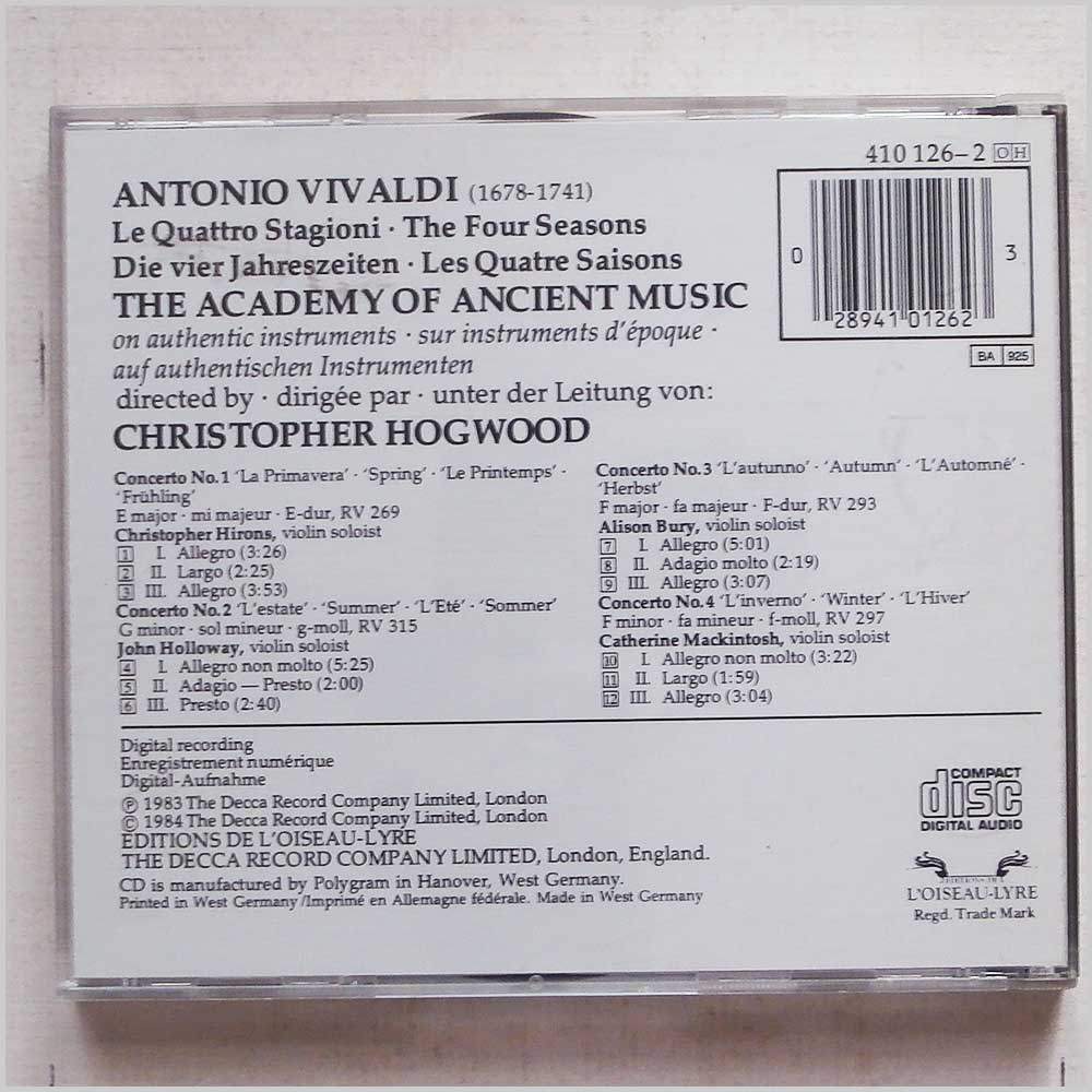 Christopher Hogwood, The Academy of Ancient Music - Vivaldi: Four Seasons (28941012623)