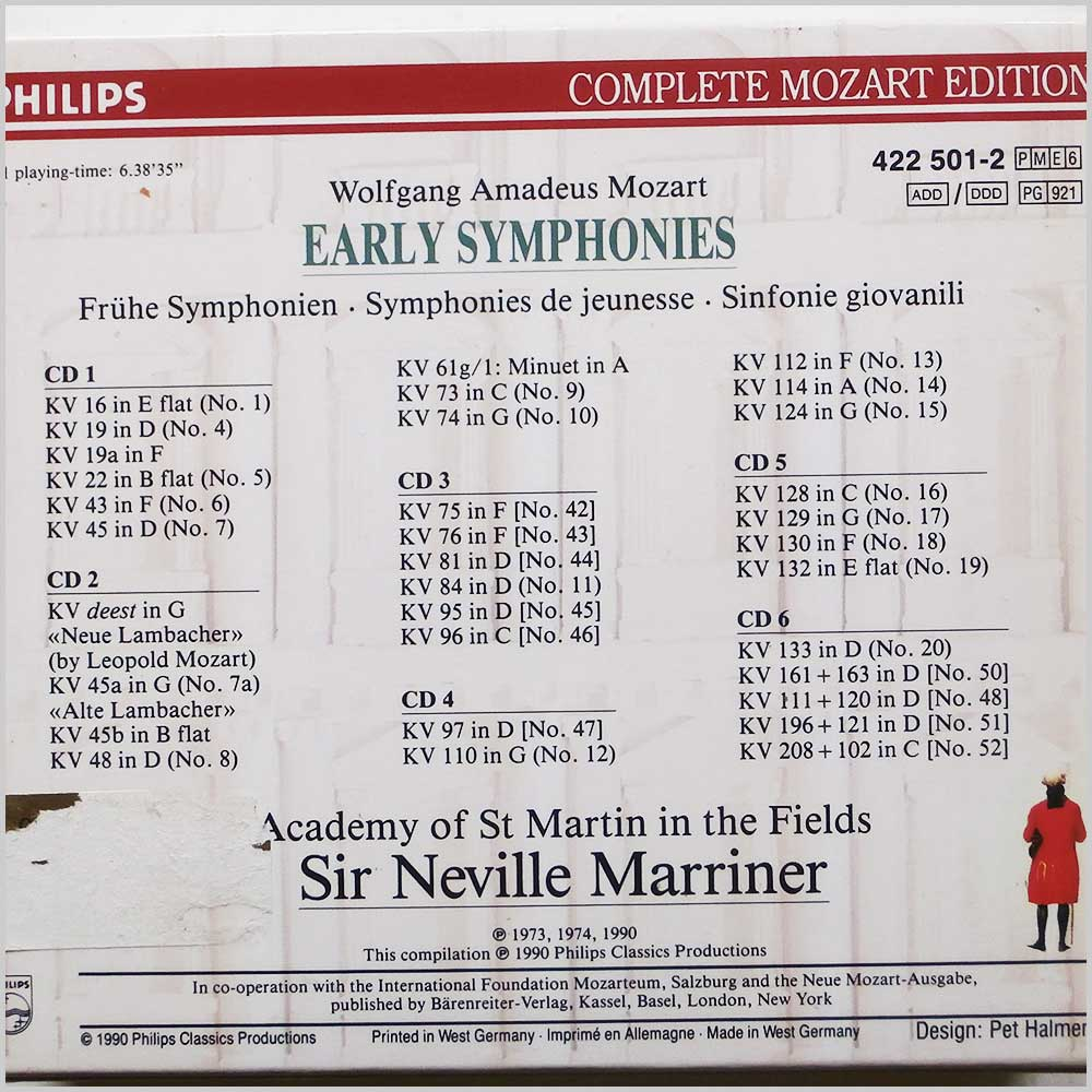 Sir Neville Marriner, Academy of St. Martin in the Fields - Wolfgang Amadeus Mozart: Early Symphonies Vol.1 (28942250123)