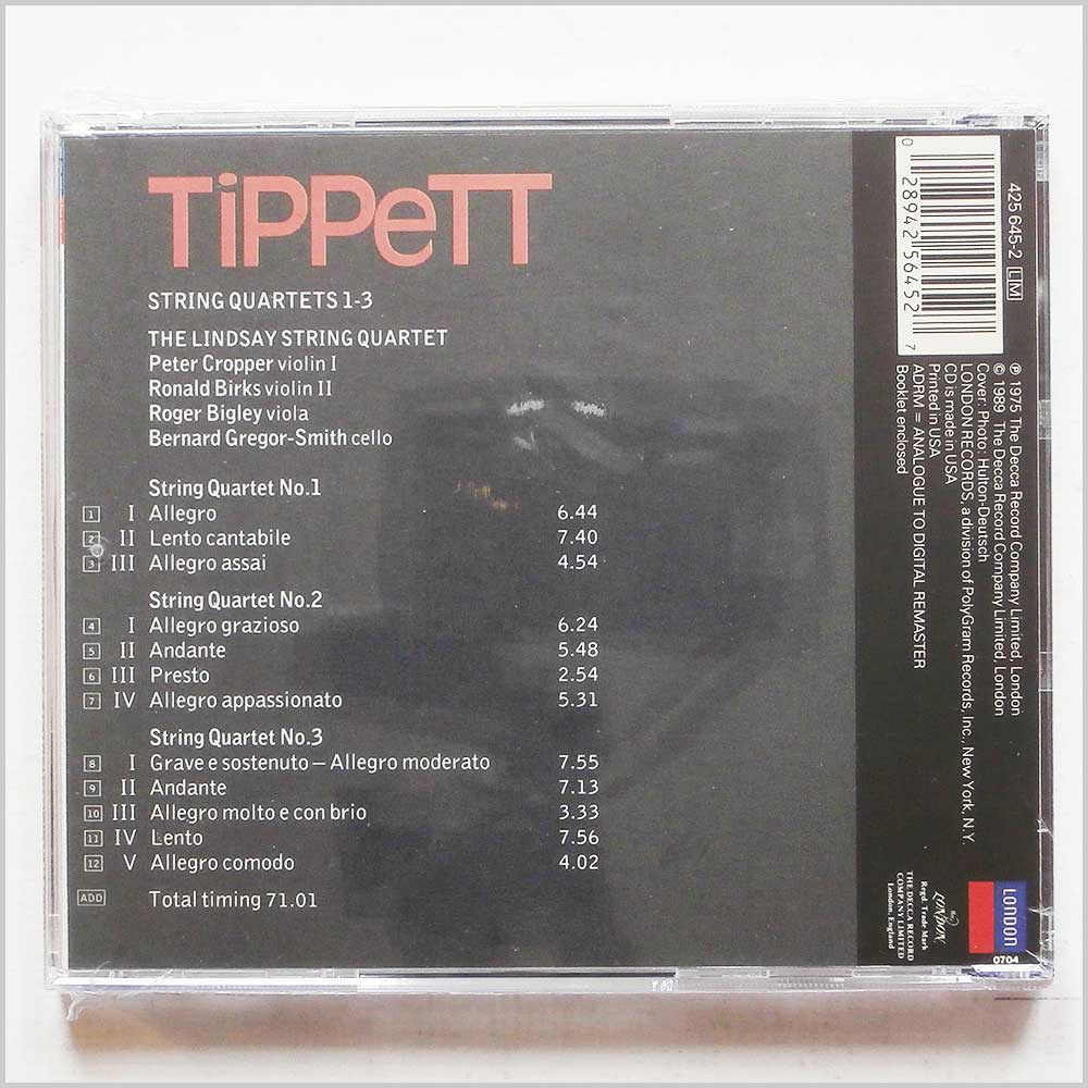 The Lindsay String Quartet - Tippett: Quartets 1-3 (28942564527)