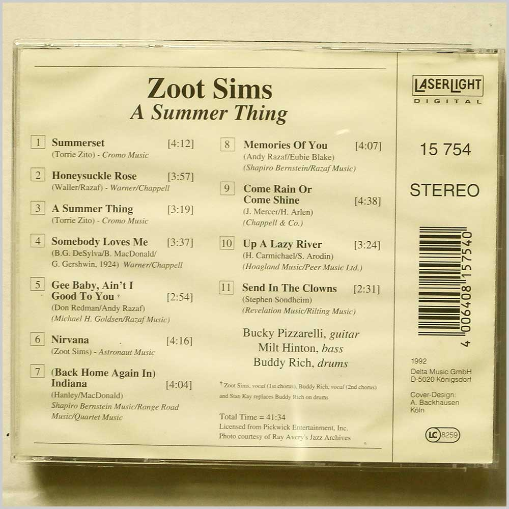 Zoot Sims - A Summer Thing (4006408157540)