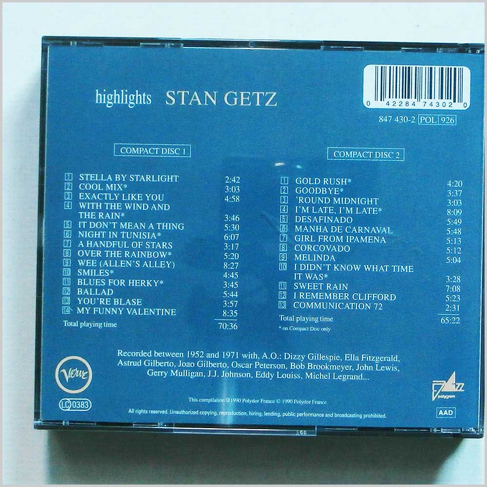 Stan Getz - Highlights (42284743020)