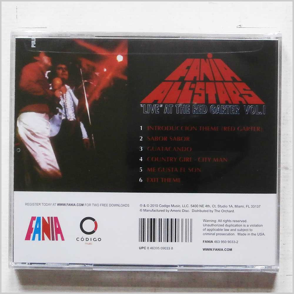 Fania All Stars - Live at the Red Garter 1 (463 950 9033-2)