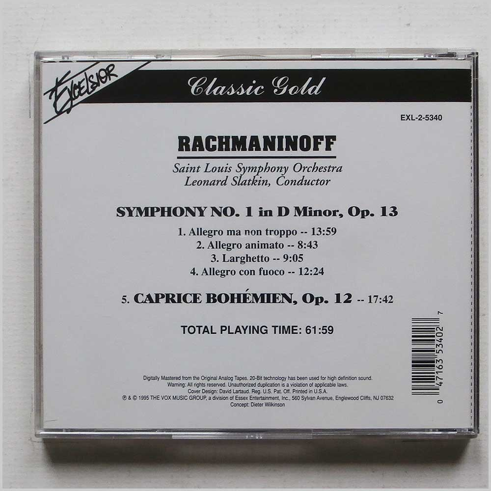 Saint Louis Symphony Orchestra - Rachmaninoff: Classic Gold Symphony No. 1 (47163534027)