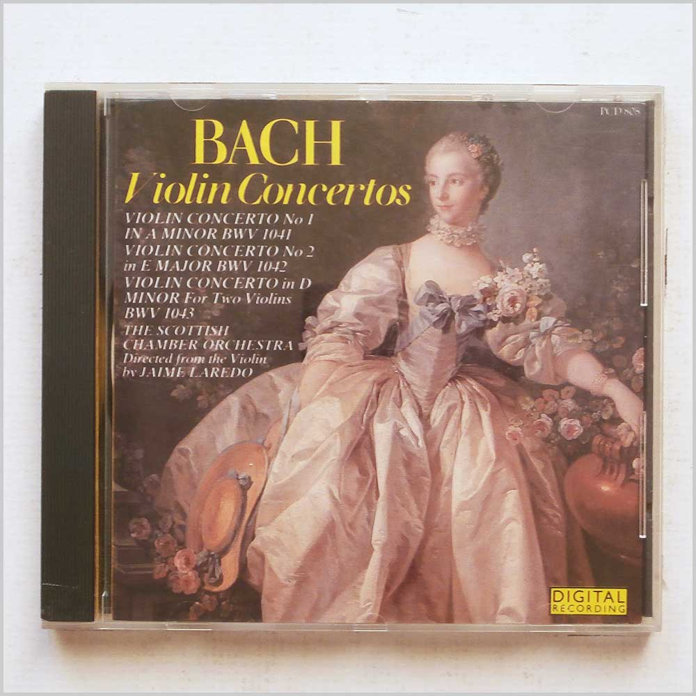 James Laredo, Scottish Chamber Orchestra - Bach: Violin Concerto (5010946680827)