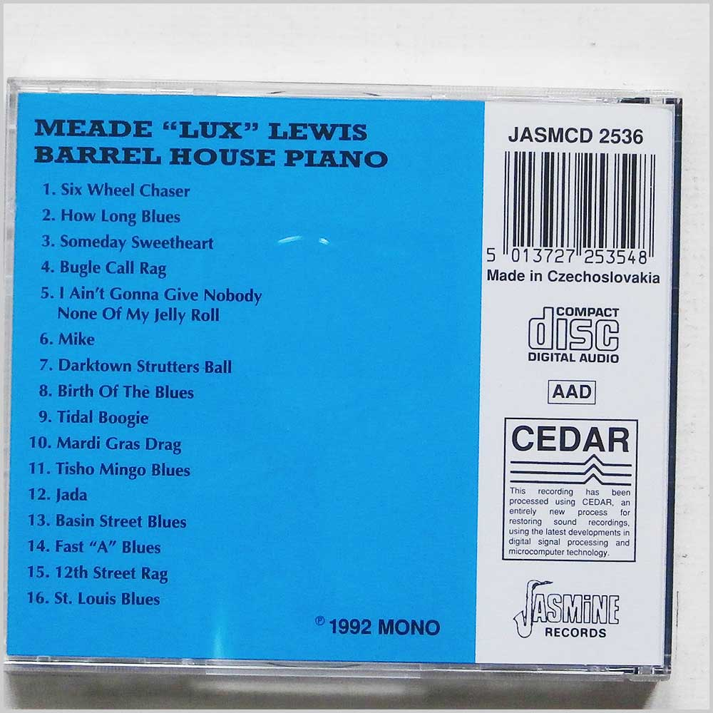 Meade Lux Lewis - Barrel House Piano (5013727253548)