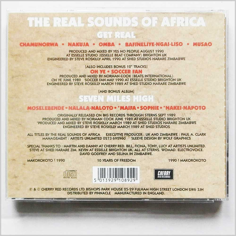 Real Sounds Of Africa - Get Real and Seven Miles High (5013929108929)