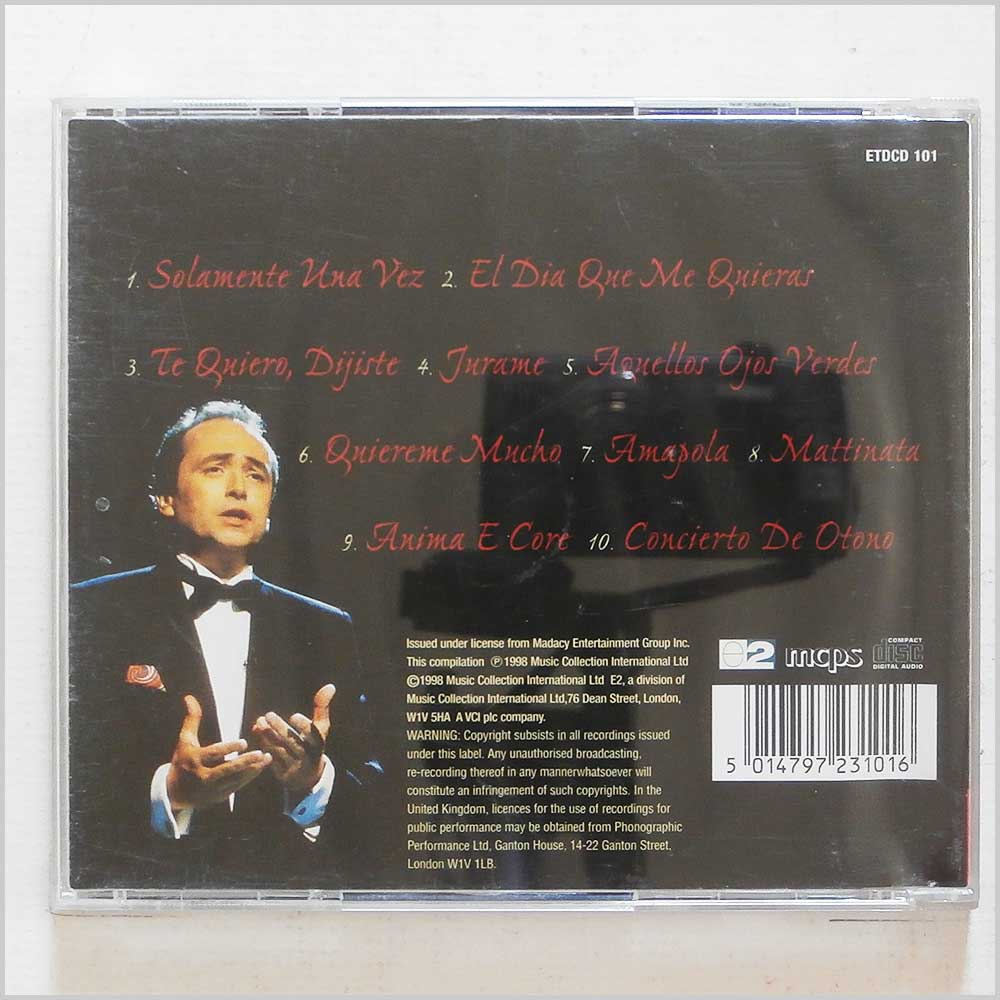 Jose Carreras - Love Songs from Spain (5014797231016)