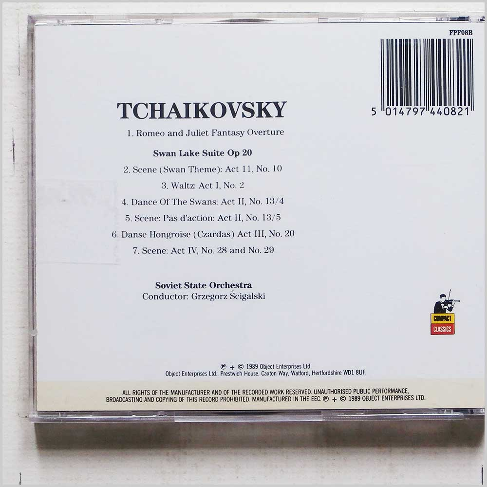Grzegorz Scigalski, Soviet State Orchestra - Tchaikovsky: Romeo and Juliet, Fantasy Overture, Swan Lake Suite (5014797440821)