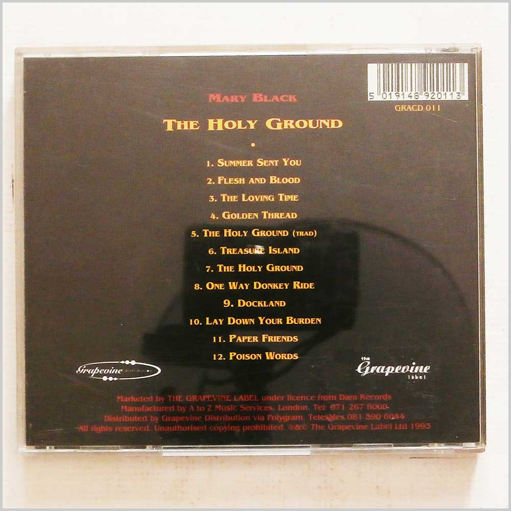 Mary Black - The Holy Ground (5019148920113)