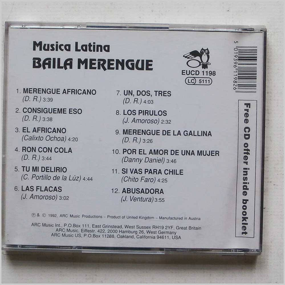 Musica Latina - Baila Merengue (5019396119826)