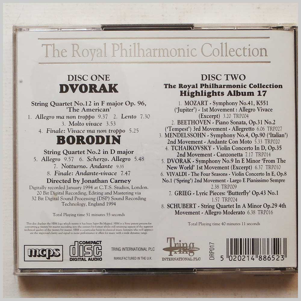 Royal Philharmonic Chamber Orchestra - Dvorak: String Quartet No.12, Borodin: String Quartet No.2 (5020214886523)