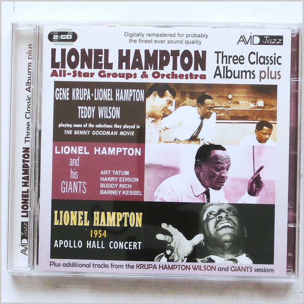 Lionel Hampton All Star Groups and Orchestra - Lionel Hampton: Three Classic Albums Plus (5022810199328)