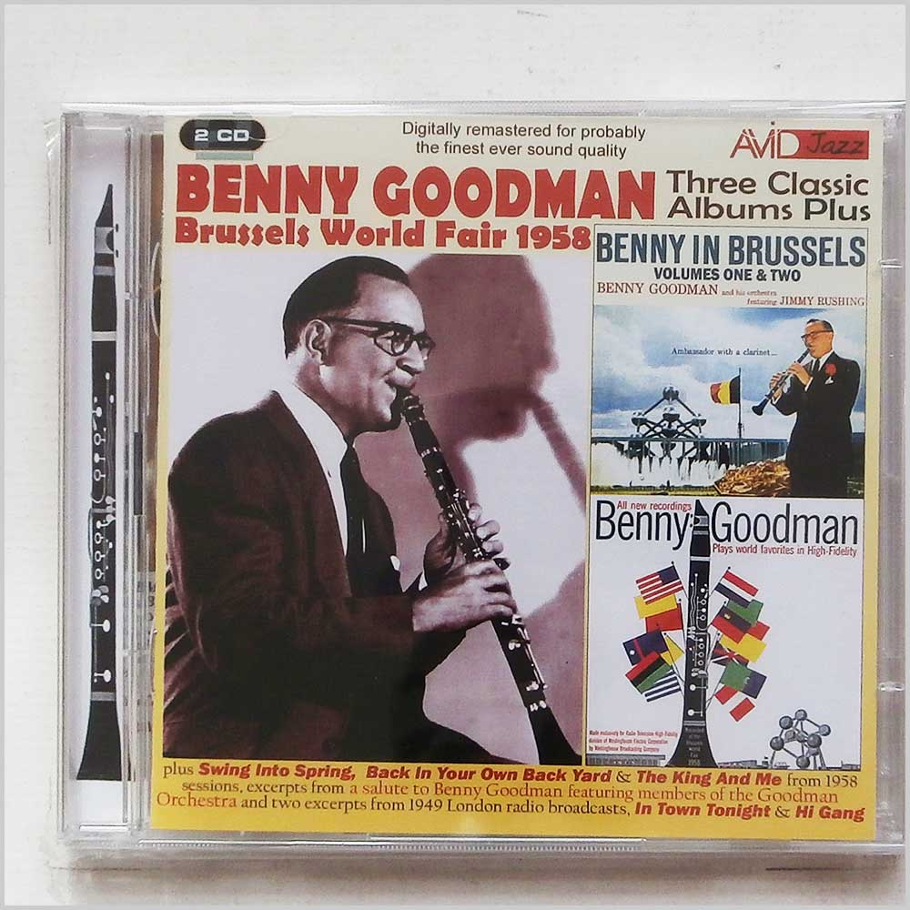 Benny Goodman - Three Classic Albums Plus: Benny In Brussels Volumes 1 and 2 and Plays World Favorites In High-Fidelity (5022810300427)