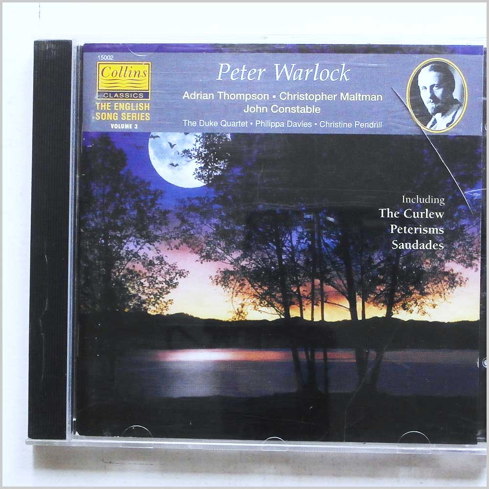Adrian Thompson, Christopher Maltman - Peter Warlock: The Curlew, Lillygay, Peterisms, Saudades (5023391150029)
