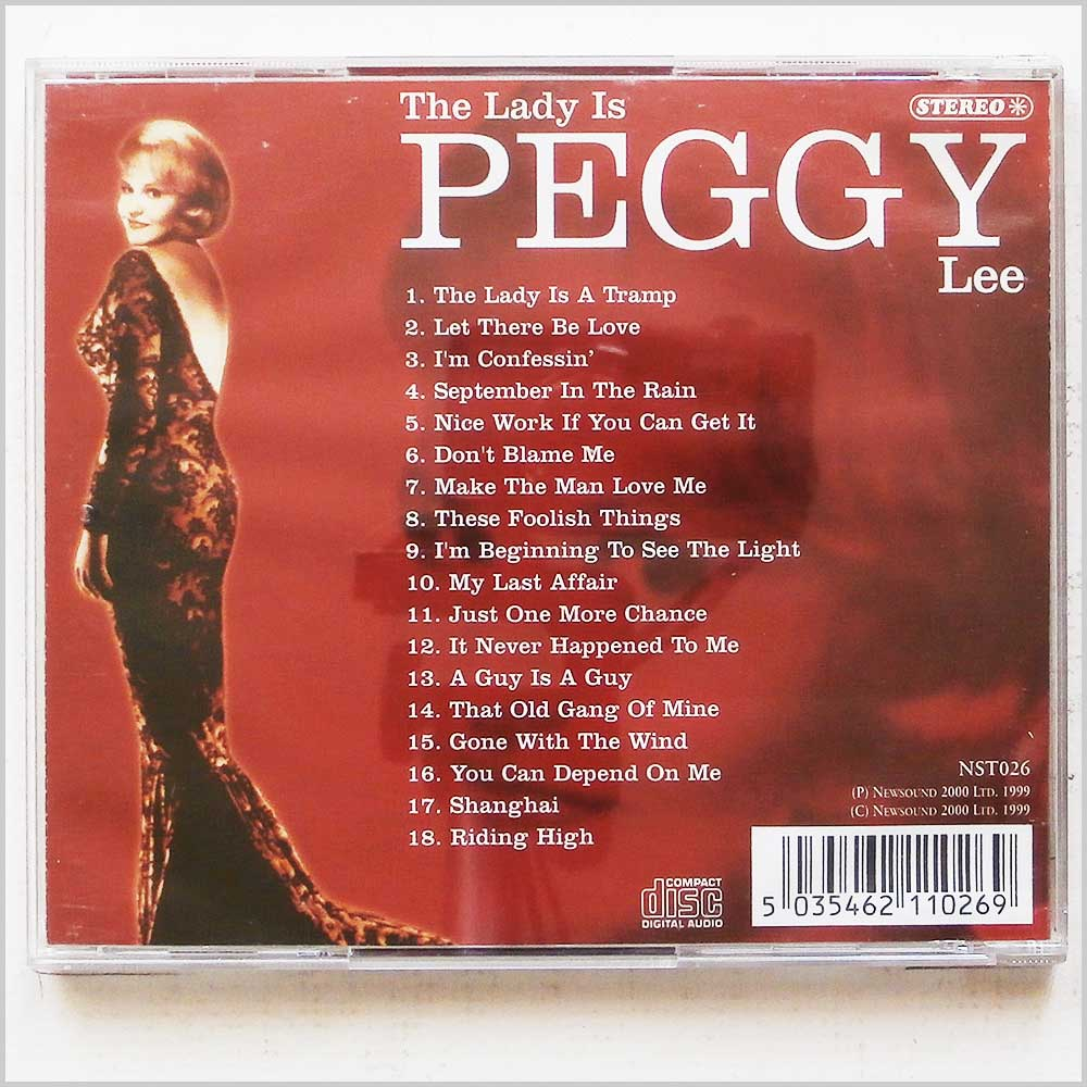 Peggy Lee - The Lady Is Peggy Lee (5035462110269)