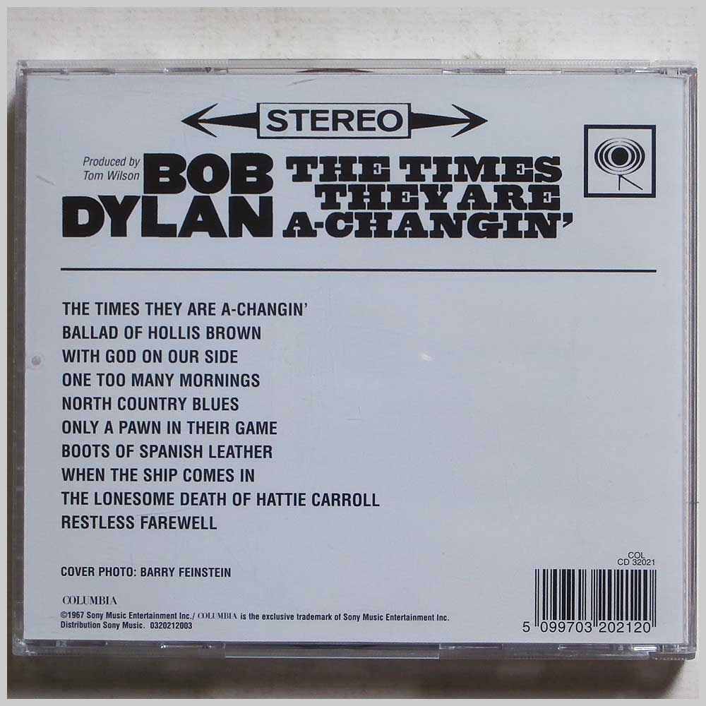 Bob Dylan - The Times They Are A-Changin' (5099703202120)