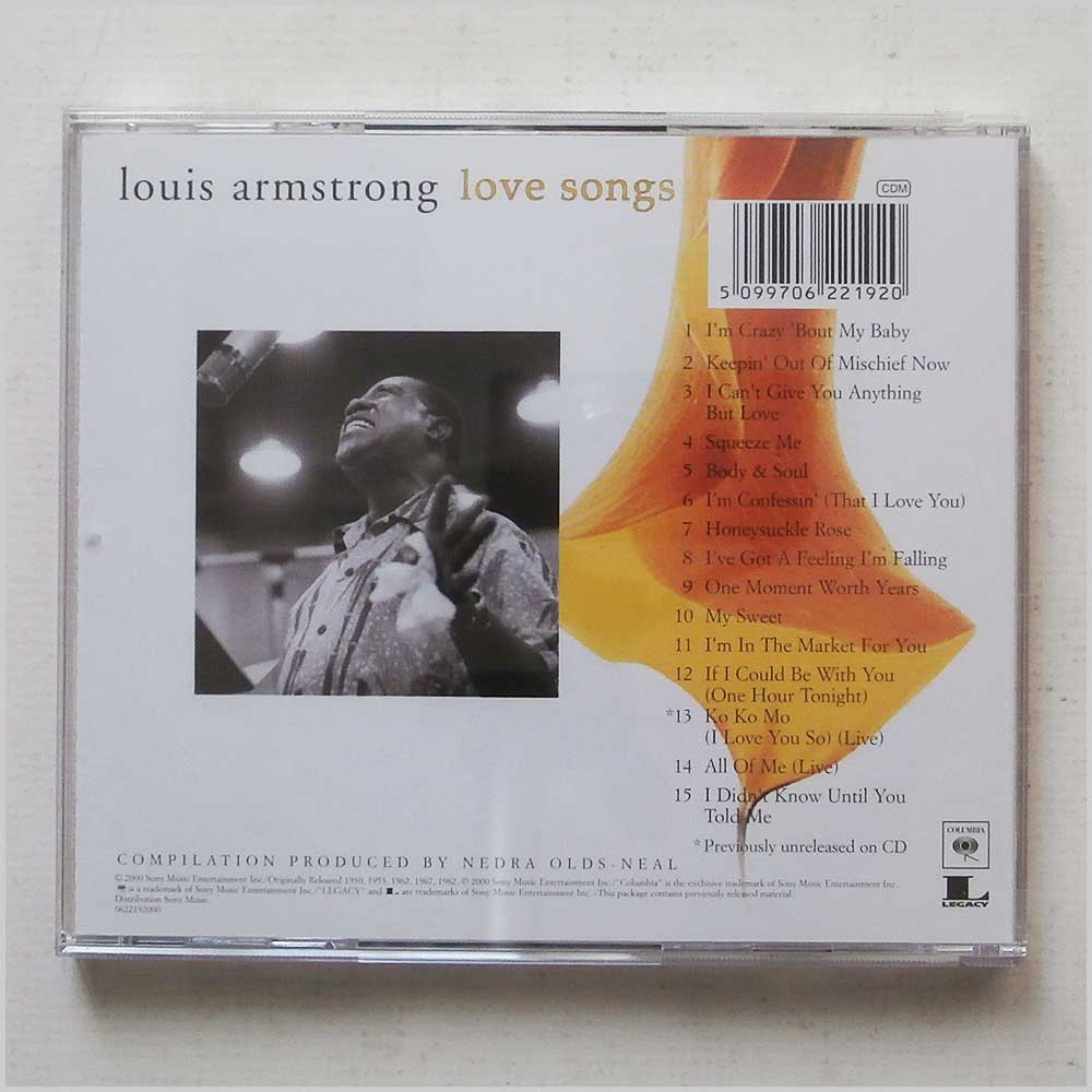 Louis Armstrong - Love Songs (5099706221920)