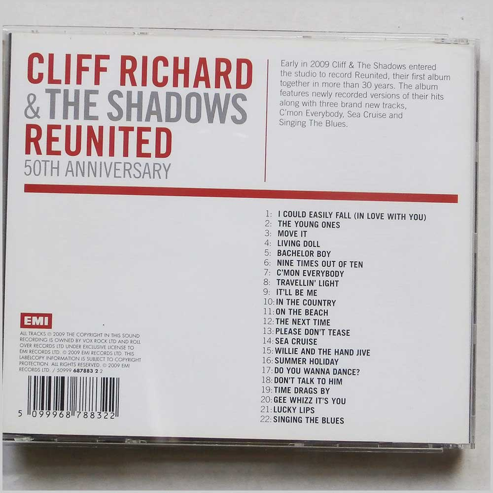 Cliff Richard and The Shadows - Reunited (5099968788322)