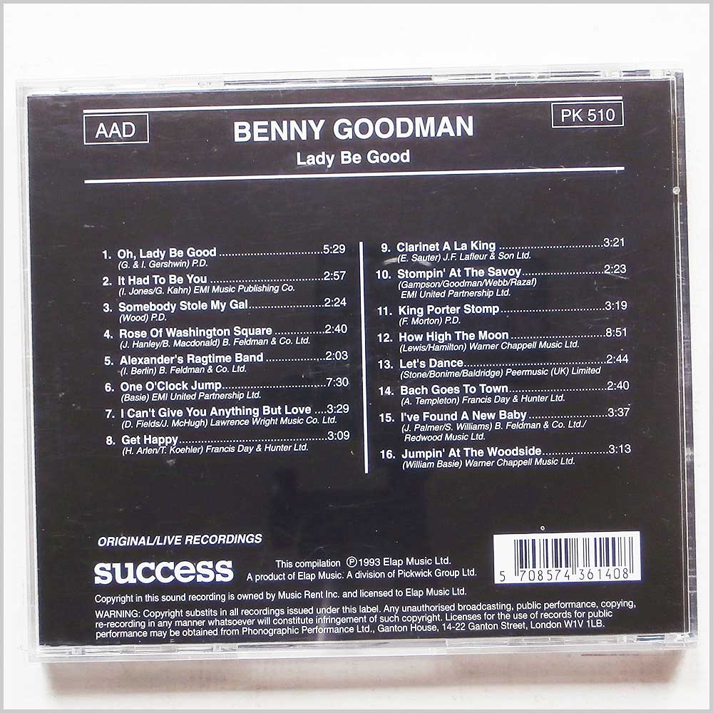 Benny Goodman - Lady Be Good (5708574361408)