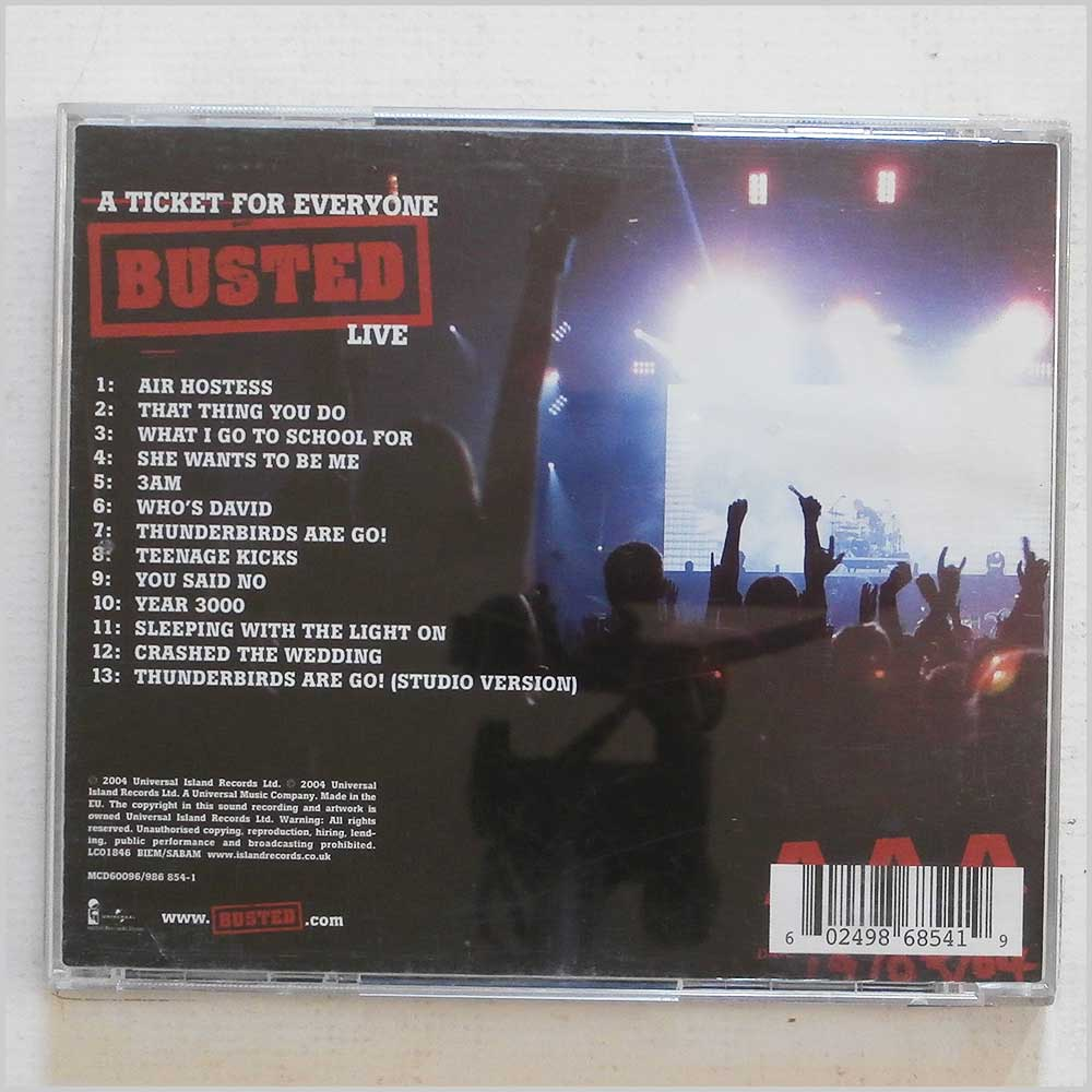 Busted - Live: A Ticket For Everyone (602498685419)