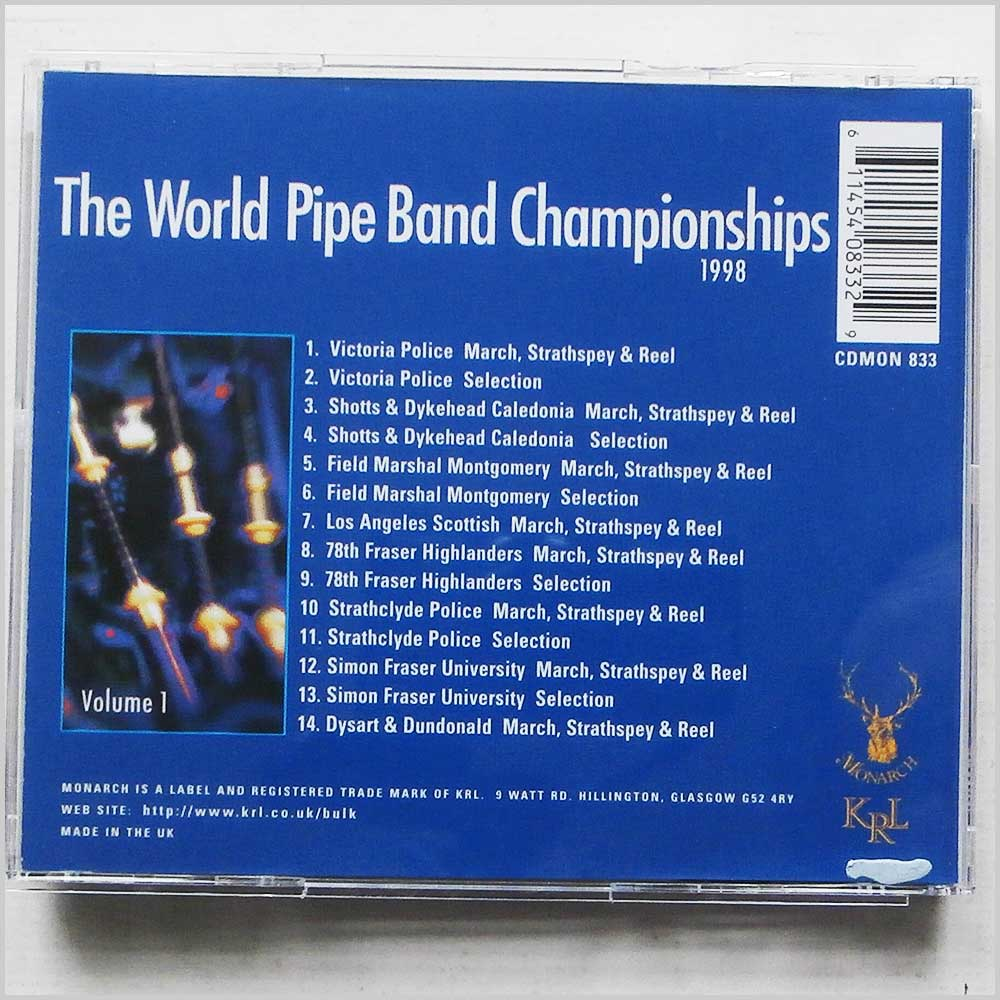 Various - 1998 World Pipe Band Championsips Volume 1 (611454083329)