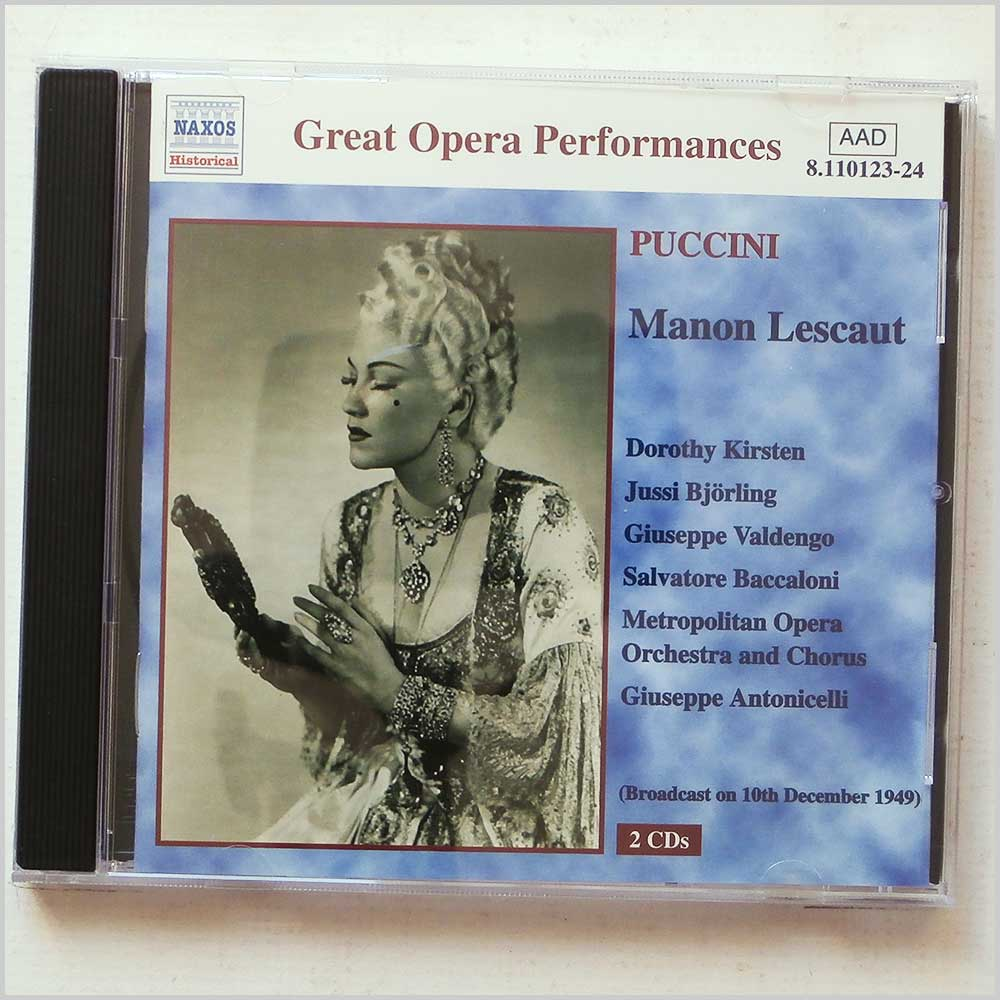 Metropolitan Opera Orchestra and Chorus, Giuseppe Antonicelli - Great Opera Performances: Puccini: Manon Lescaut (636943112328)