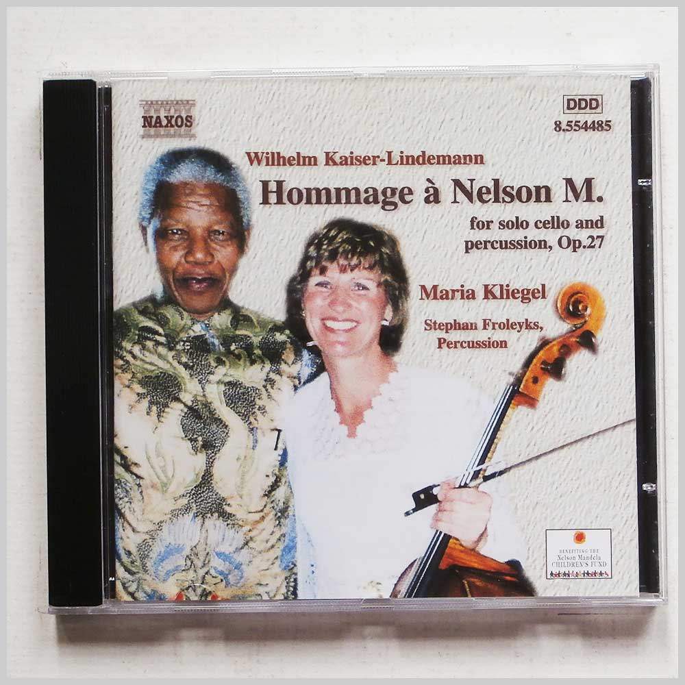 Maria Kliegel, Stephan Froleyks - Hommage a Nelson Mandela for Solo Cello and Percussion, Op.27 (636943448526)