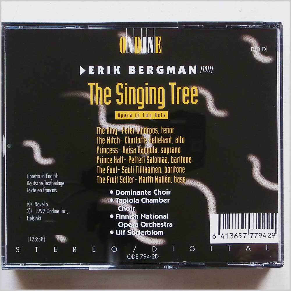 Finnish National Opera Orchestra, Dominante Choir - Erik Bergman: The Singing Tree (6413657779429)