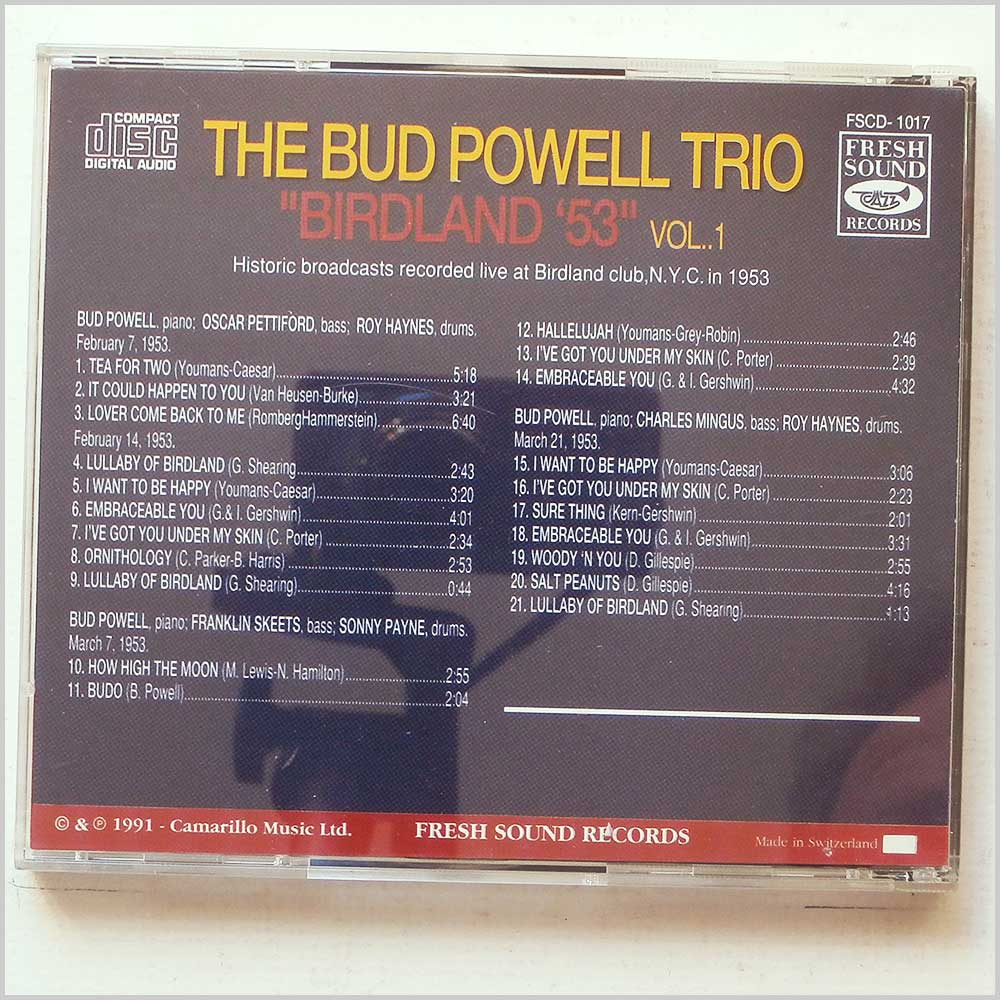 The Bud Powell Trio - Birdland '53 Vol. 1 (689279371730)