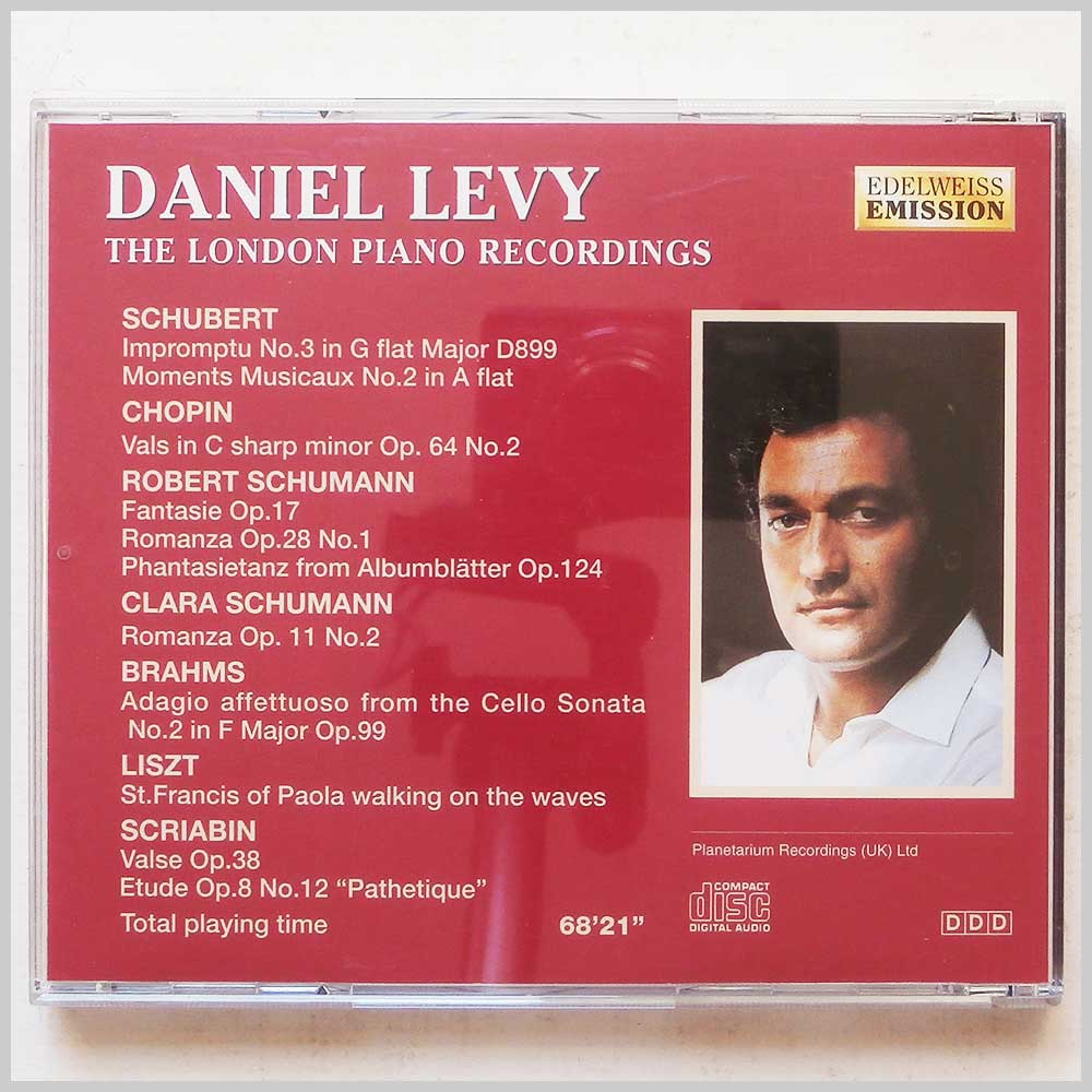 Daniel Levy - The London Piano Recordings (689279385225)