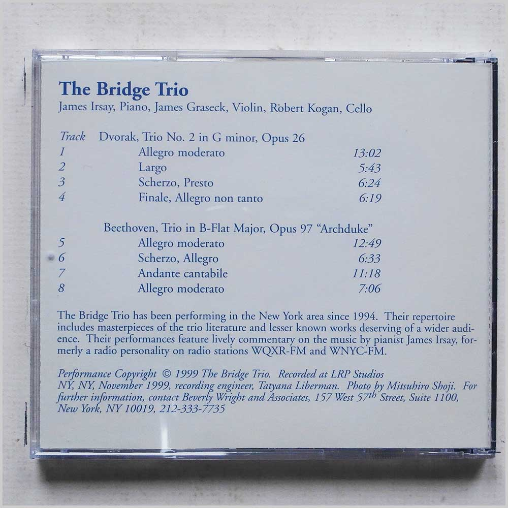 The Bridge Trio - Dvorak: Trio No. 2, Beethoven: Trio in B-Flat (689279389810)