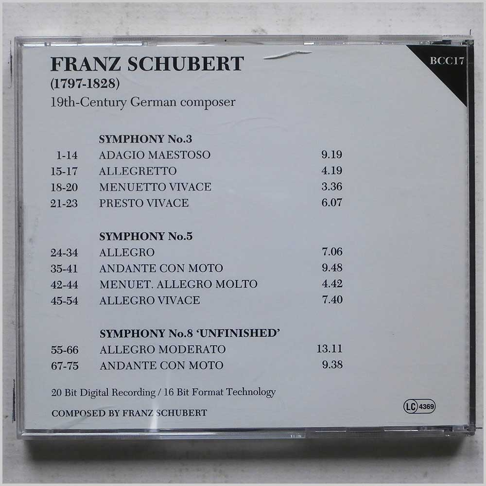 Various - The Bruton Classical Collection: Schubert (689279389902)