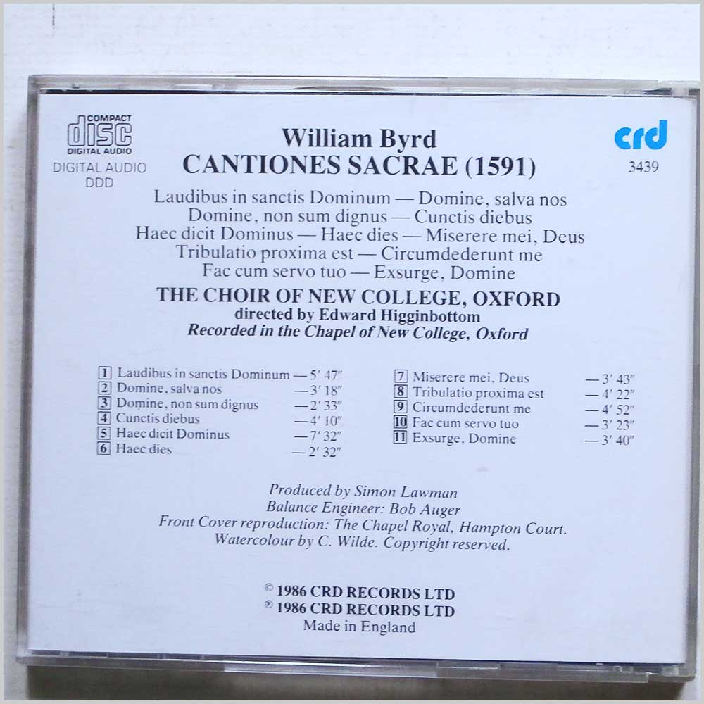 The Choir of New College, Oxford - William Byrd: Cantiones Sacrae (1591) (689279407255)