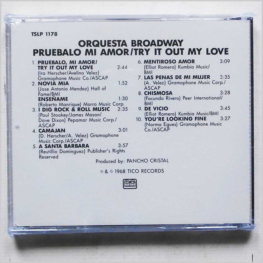 Orquesta Broadway - Pruebalo Mi Amor, Try It Out, My Love (689279435050)
