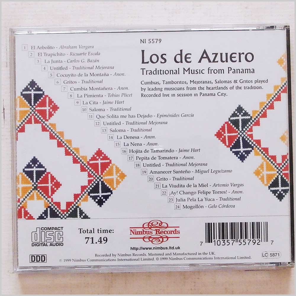 Los De Azuero - Traditional Music from Panama (710357557927)