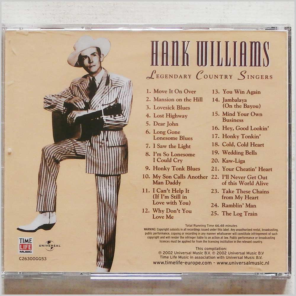 Hank Williams - Hank Williams: Legendary Country Singers (7148163397223)