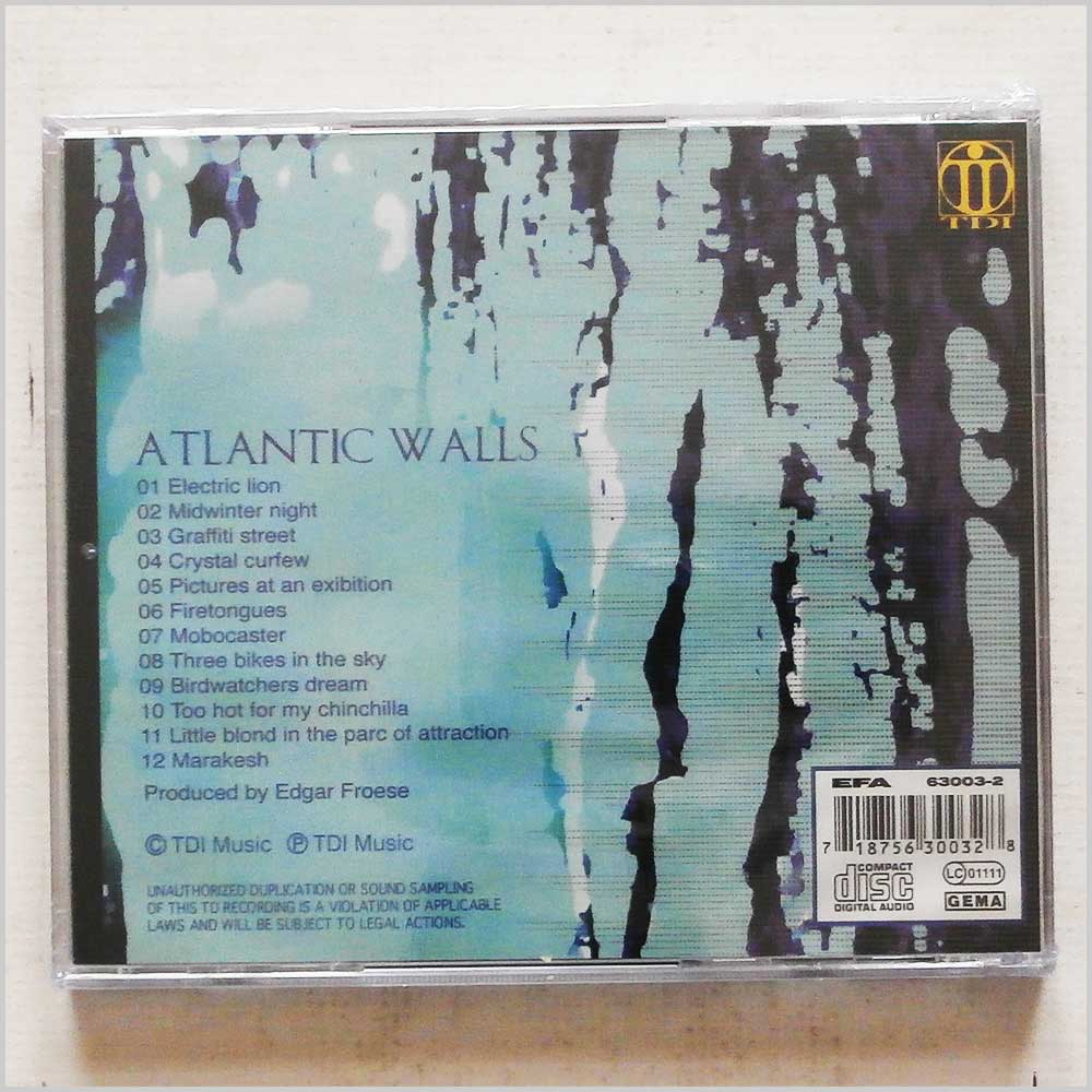 Tangerine Dream - Atlantic Walls (718756300328)