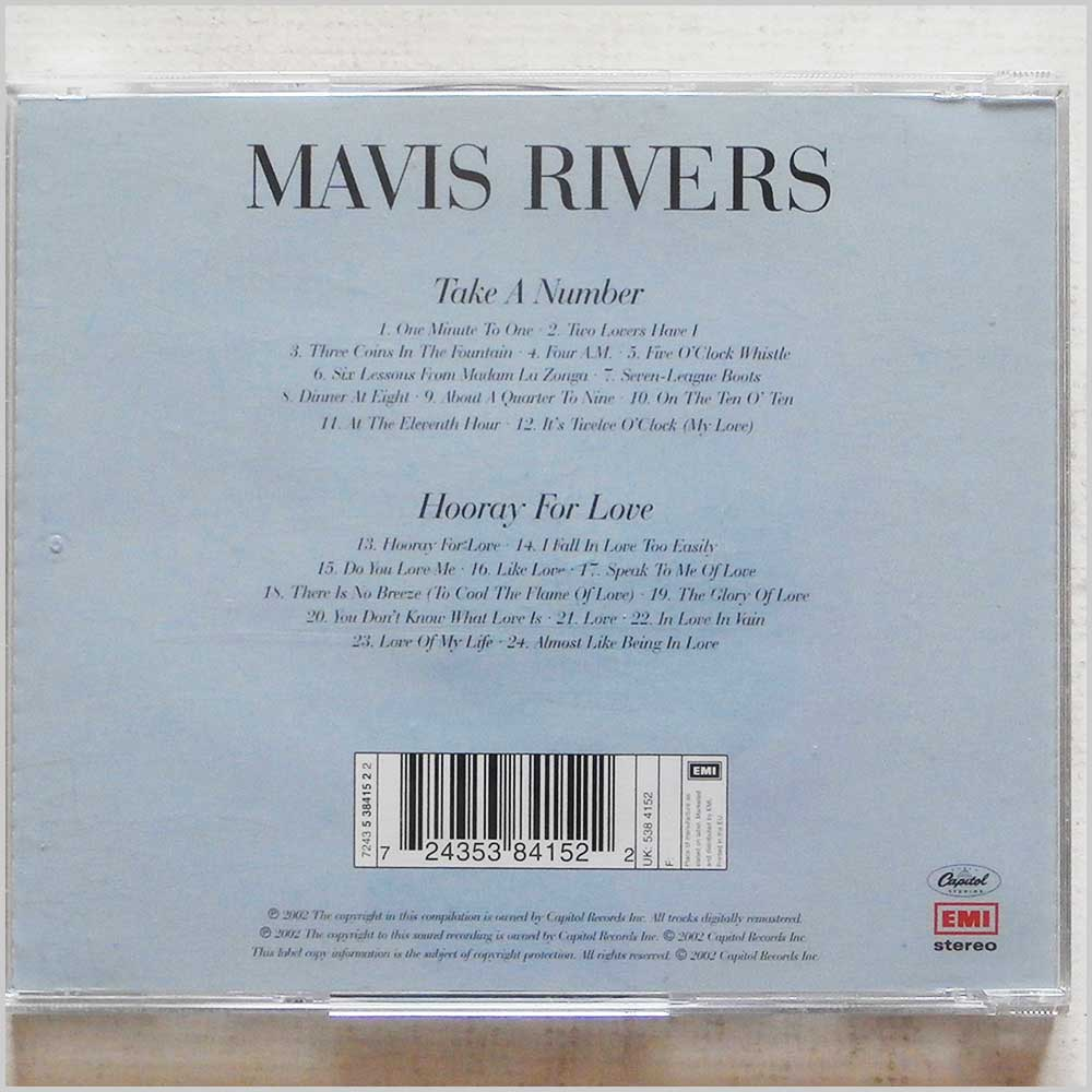 Mavis Rivers  - Take A Number, Hooray For Love (724353841522)