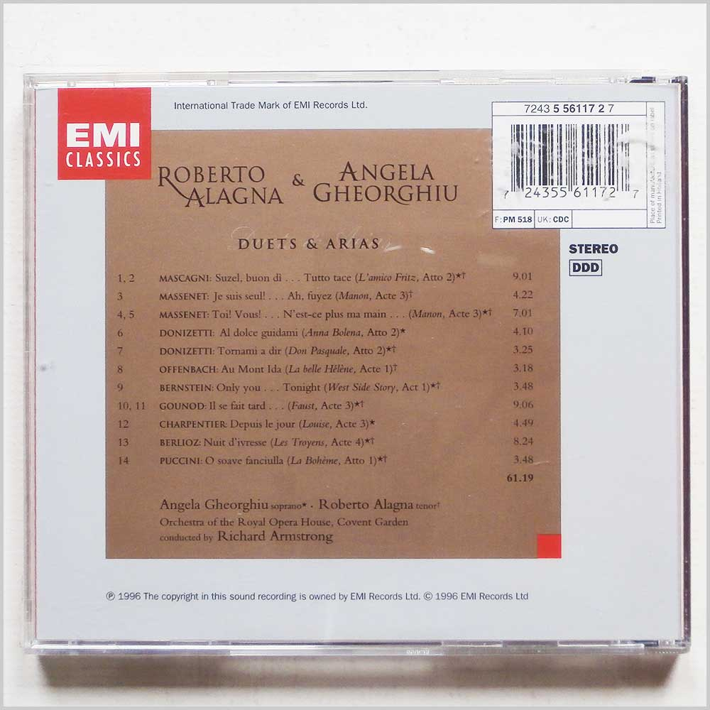 Roberto Alagna and Angela Gheorghiu - Duets and Arias (724355611727)