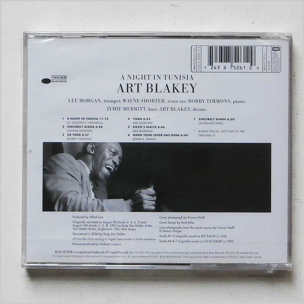 Art Blakey and The Jazz Messengers - A Night In Tunisia (724387526129)