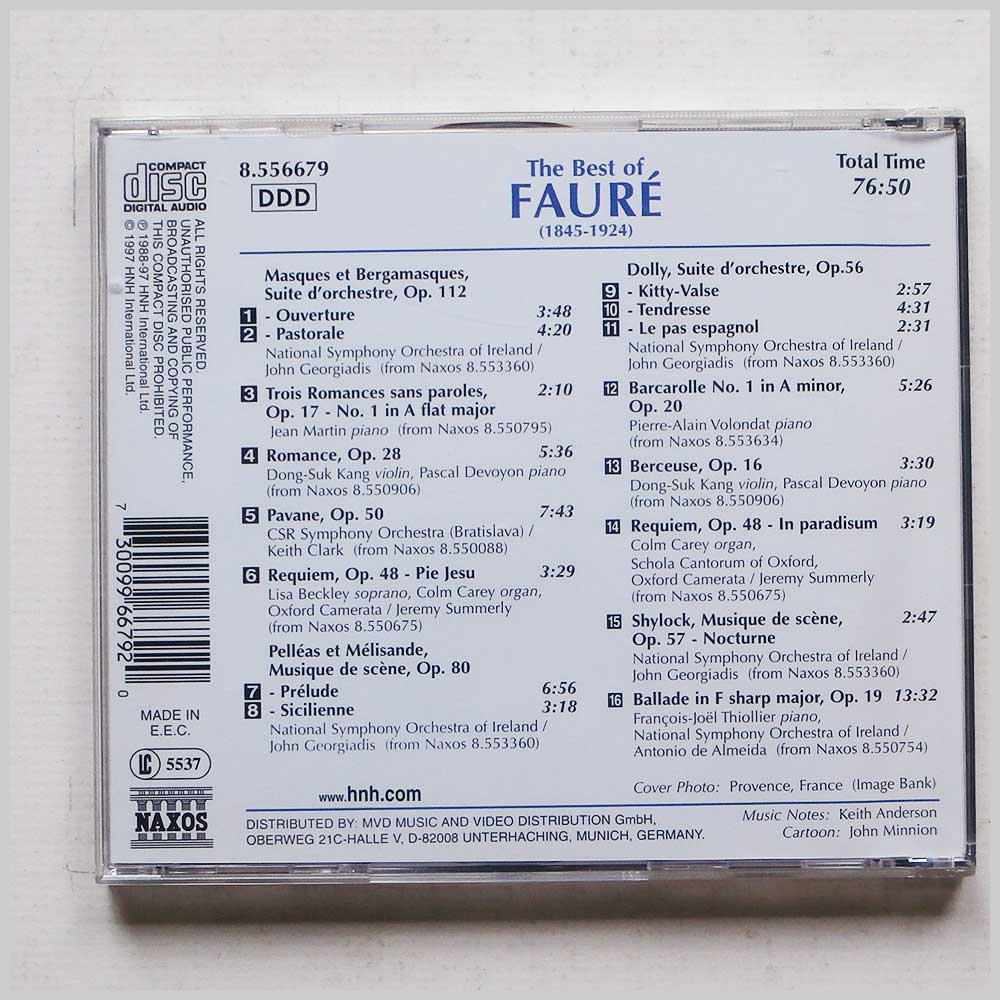 Various - Gabriel Faure: The Best of Faure (730099667920)