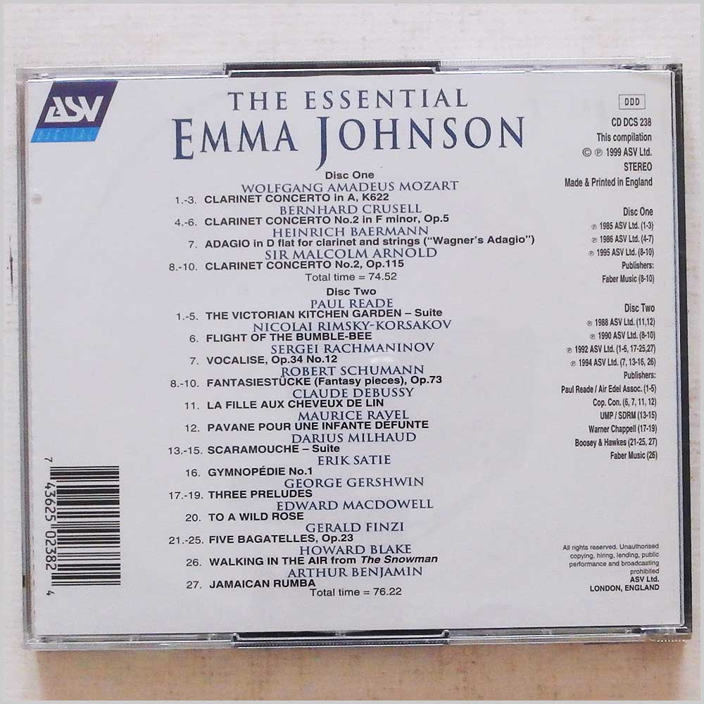 Emma Johnson - The Essential Emma Johnson: In Concert and In Recital (743625023824)
