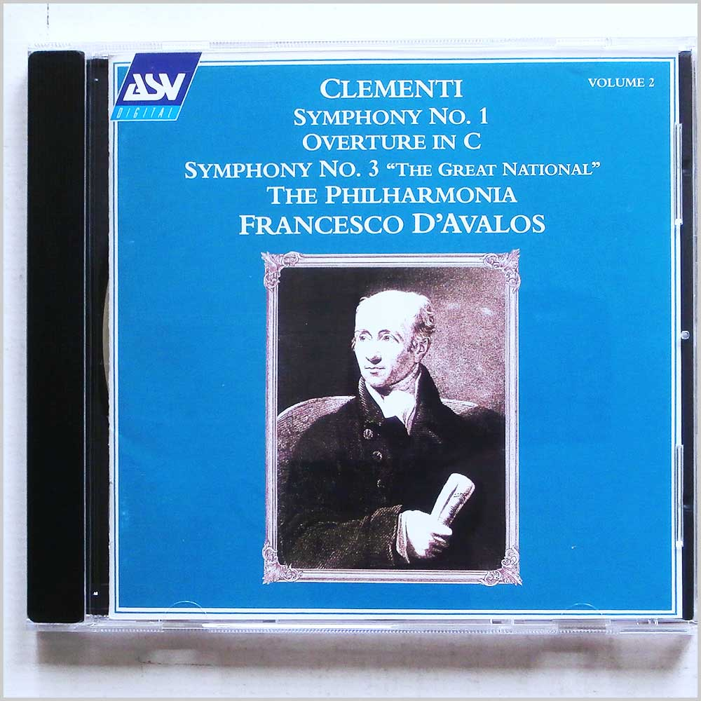D'Avalos, Philharmonia Orchestra - Clementi: Symphony No. 1, Overture in C, Symphony No. 3 (743625180329)