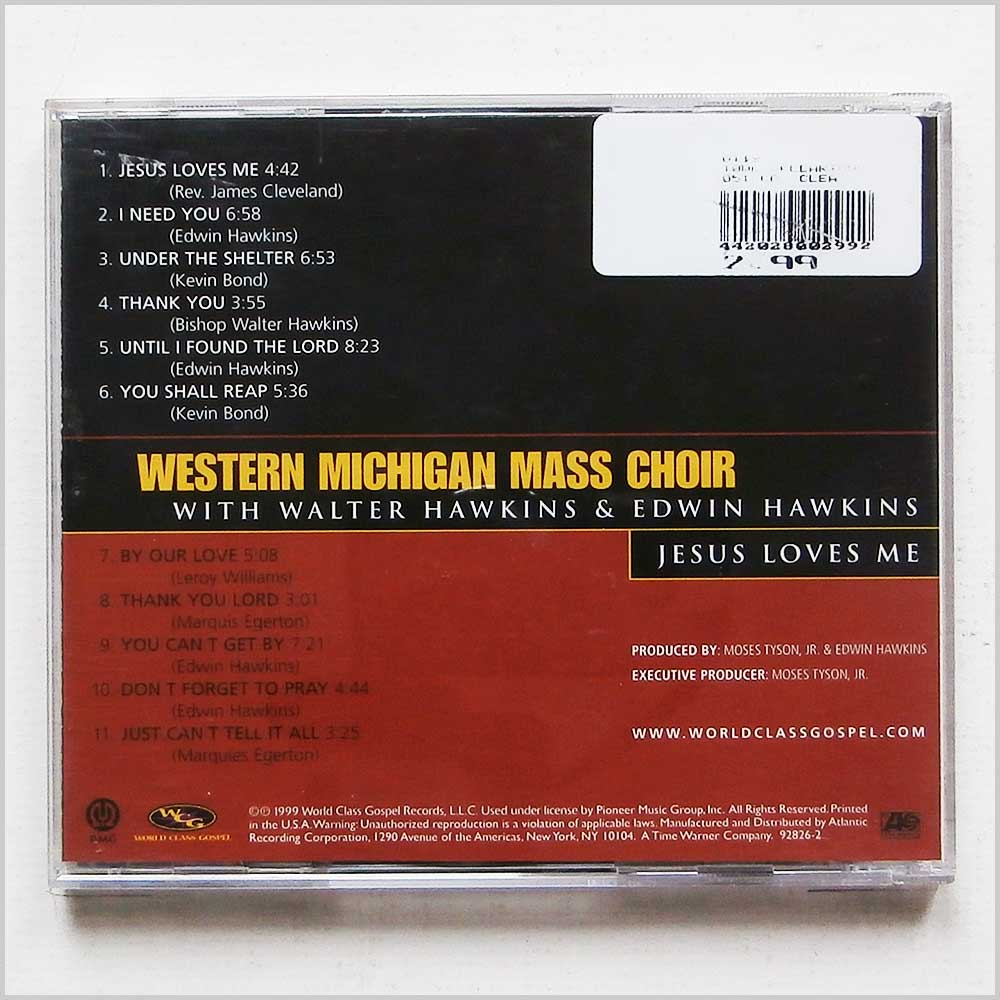 Western Michigan Mass Choir with Walter Hawkins and Edwin Hawkins - Jesus Loves Me (75679282620)